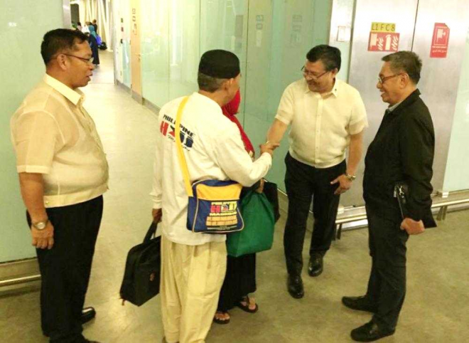 Alonto welcomes 1st batch of Filipino pilgrims